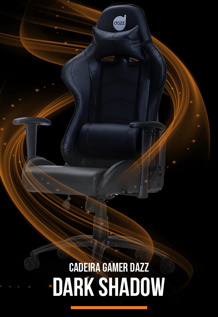Cadeira Gamer Dazz Dark Shadow, Black - 625165 | KaBuM!