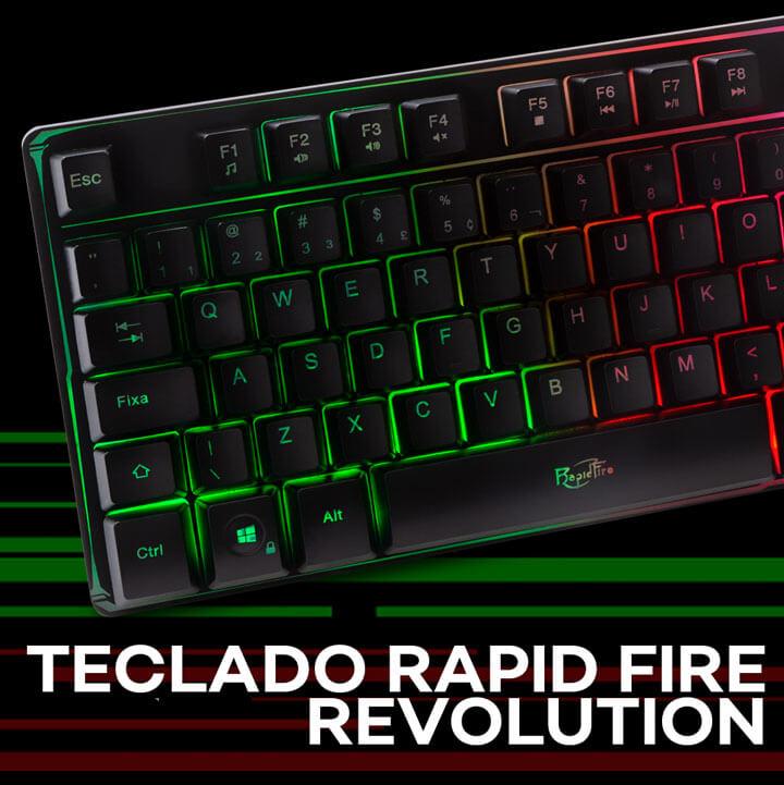 KaBuM! - Teclado Gamer Dazz Rapid Fire Revolution, Rainbow