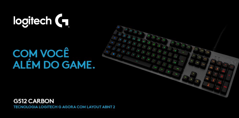 KaBuM! - Teclado Mecânico Gamer Logitech G512 Carbon, RGB