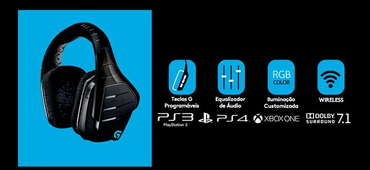 KaBuM! - Headset Gamer Logitech G933 Artemis Spectrum Sem