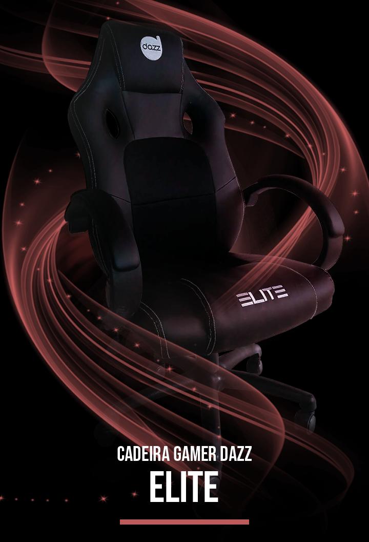 Cadeira Gamer Dazz Elite, Black - 624761 | KaBuM!